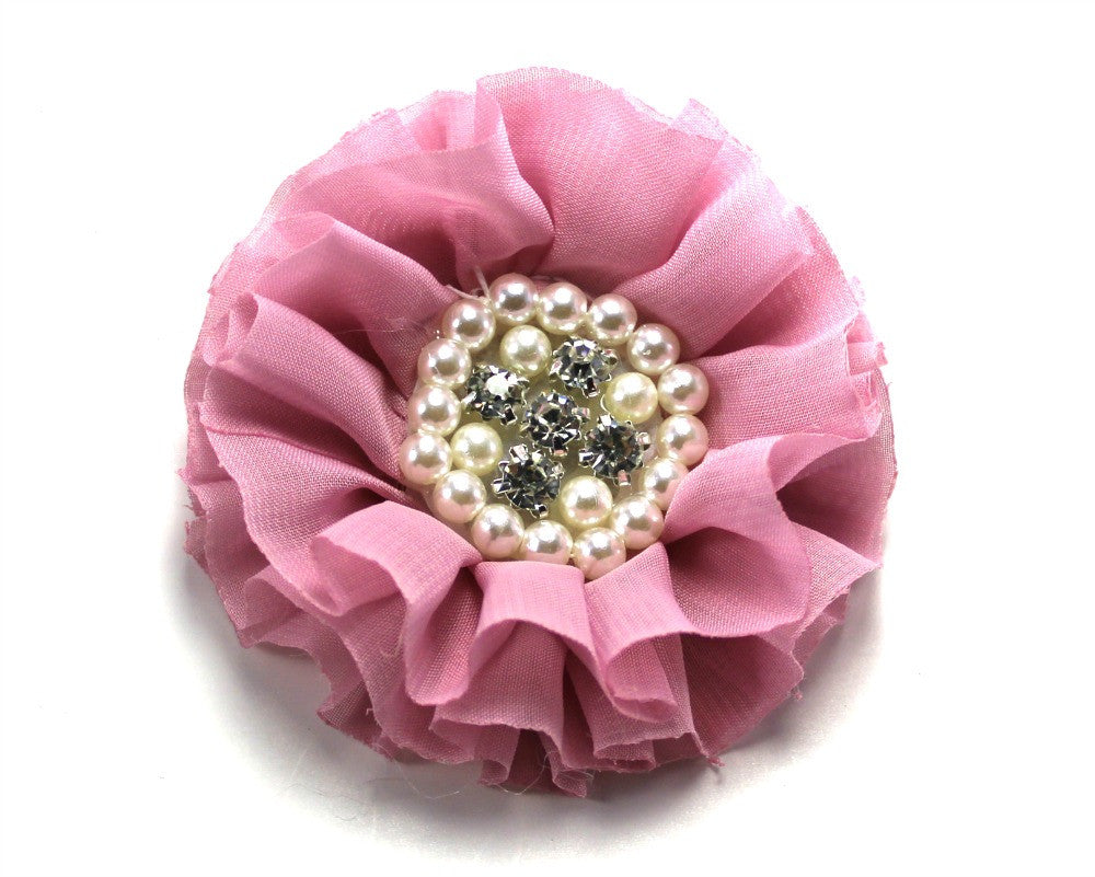 Jeweled Flower - Vintage Pink - shabbyflowers.com