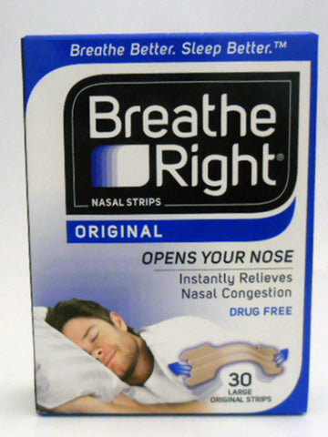 BREATH RIGHT Strips Tan Lg 30pk