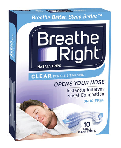 BREATH RIGHT Strips Clear Reg. 10pk