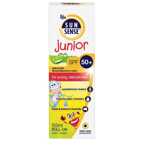Sunsense Junior Rollon SPF 50+ suncreen for childrens skin