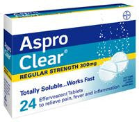 ASPRO Clear 300mg 24tabs