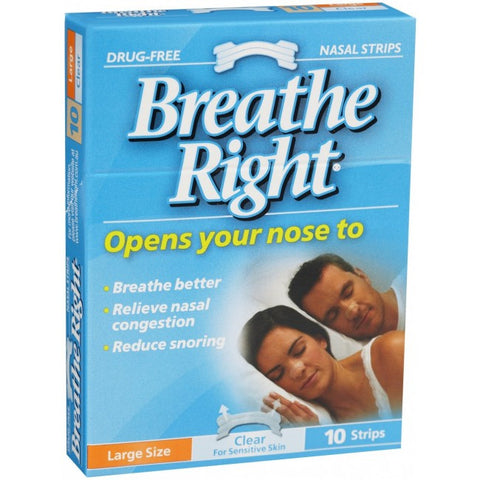 BREATHE RIGHT Strip Tan Lg 10pk