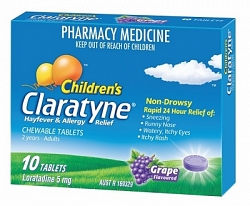CLARATYNE Child Chew Grape 10tabs