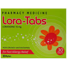 LORA-TABS Allergy & H/Fever 10mg 30