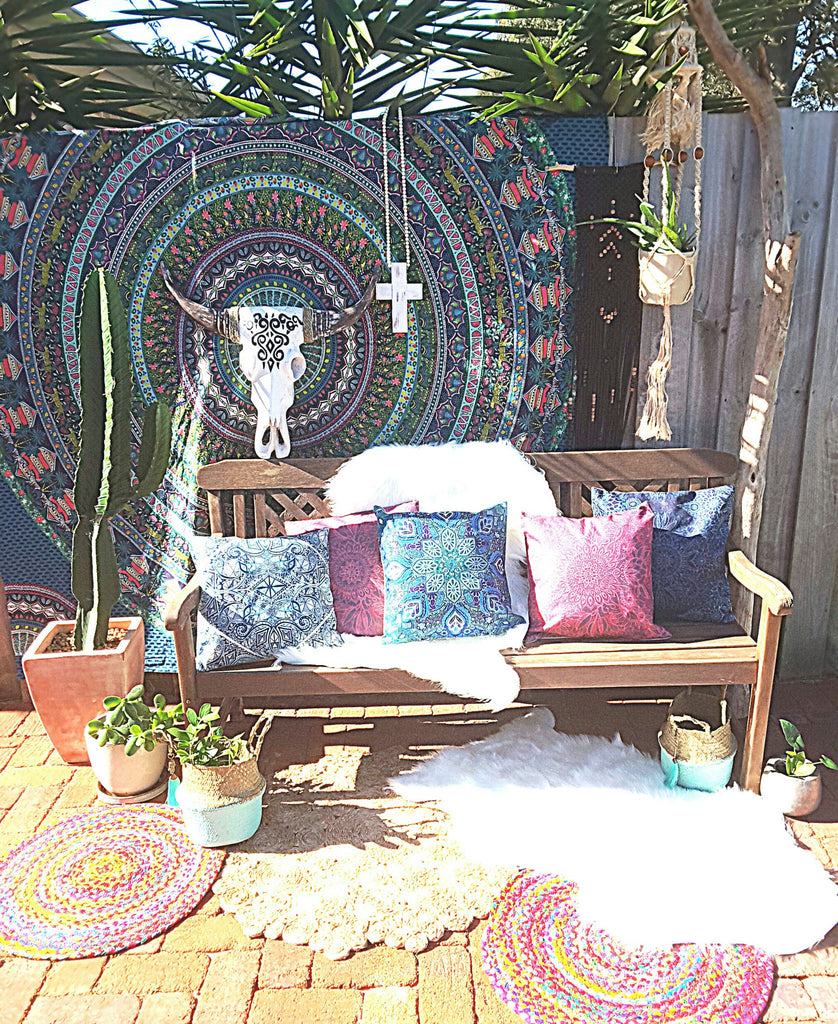 mandala roundies, towels, cushions and tapestries