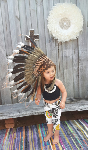 "Little indian headdress ""natural"" - The boho gypsea"