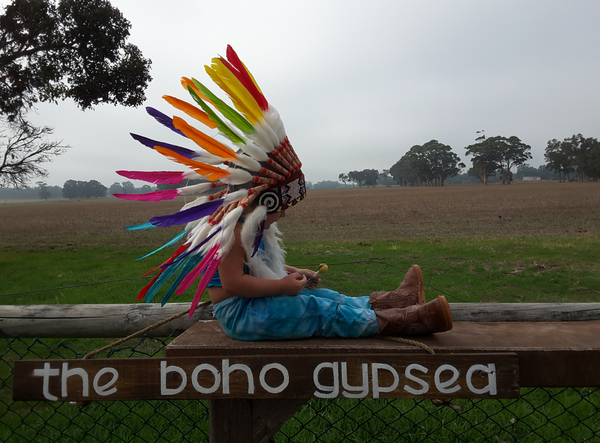 """Rainbow"" Little indian headdress - The boho gypsea"