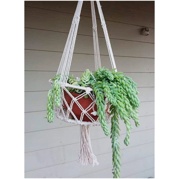 """Wanderlust"" medium macrame hanging basket - The boho gypsea"