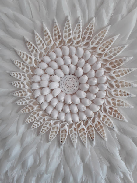 """An eternity"" white  feather wall hanging large - The boho gypsea"