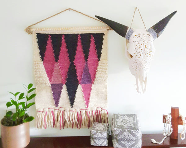 knitted macrame wall hanging - The boho gypsea
