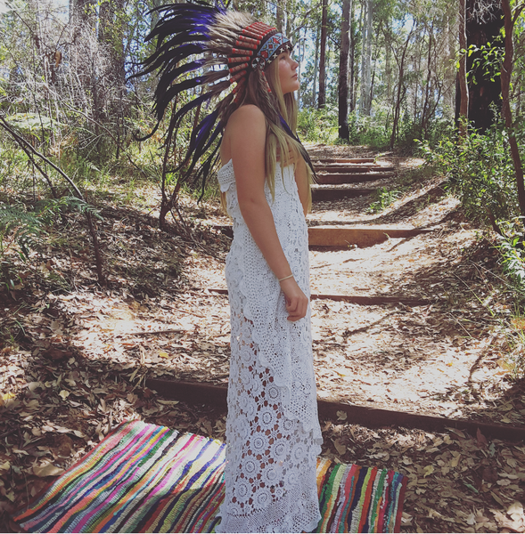 "Bowie ""Indian headdress"" - The boho gypsea"