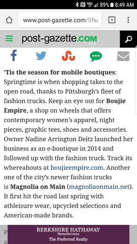 Newspaper Story About Boujie Empire Mobile Boutique