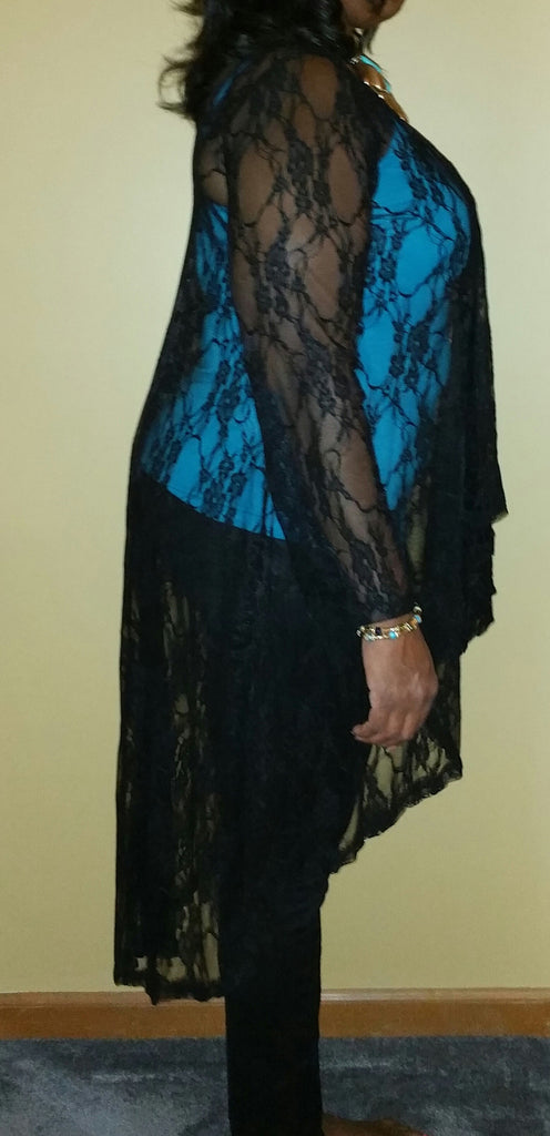Lace, Long Sleeve Cardigan