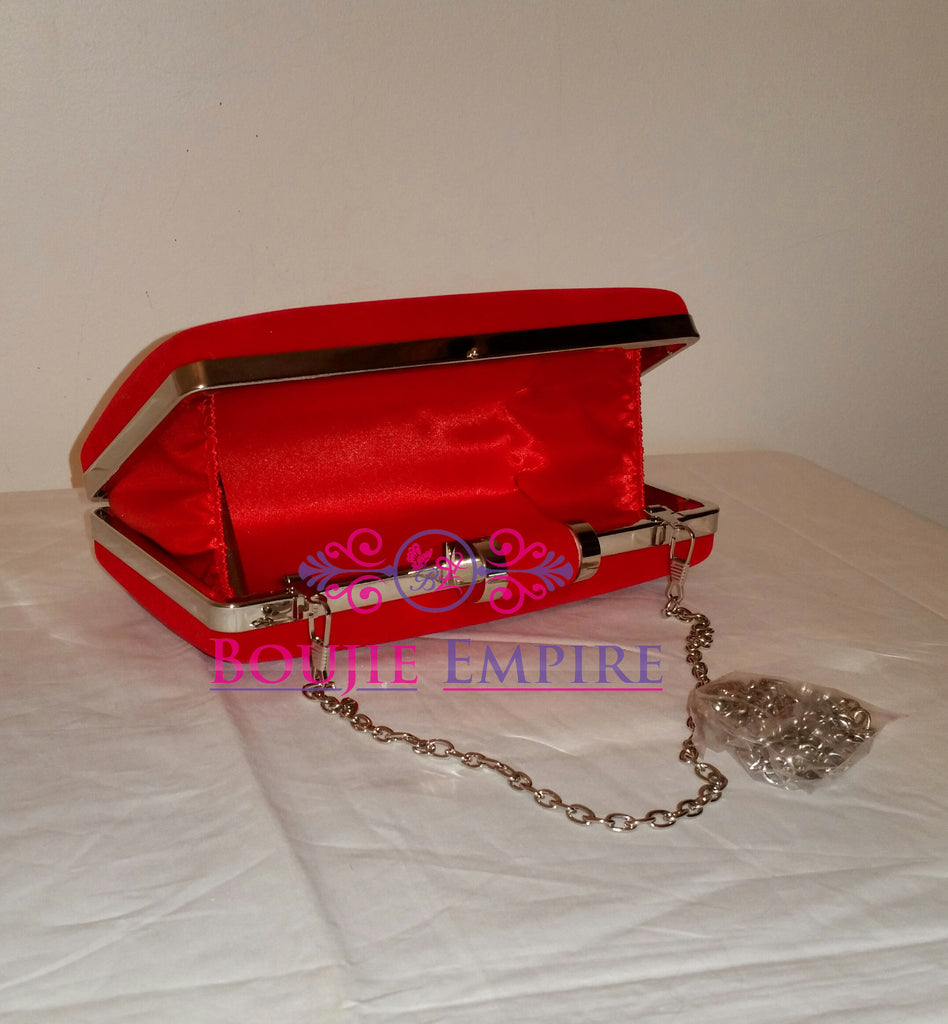Red Evening Clutch - Boujie Empire™