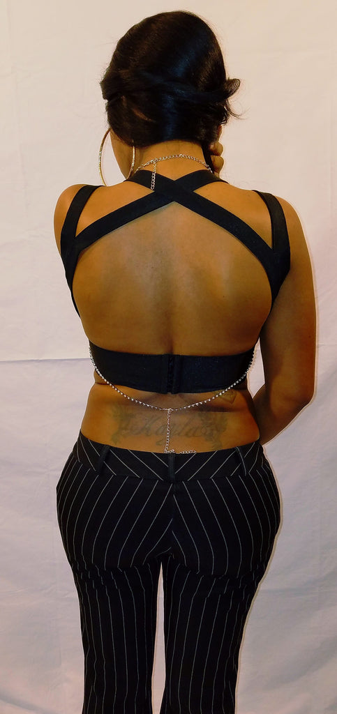 Black Sleeveless Bandage Crop Top - Boujie Empire™