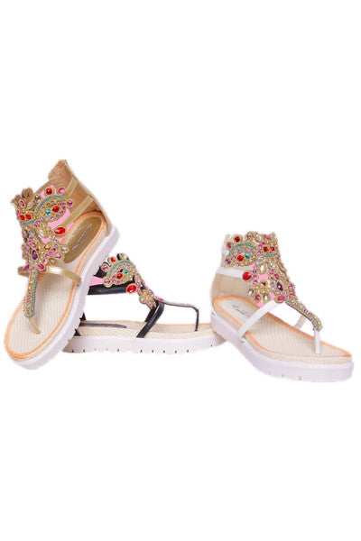 Ariana Sandal Red Gems - Boujie Empire™