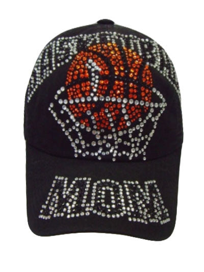 Black Basketball Mom Baseball Cap - Boujie Empire™