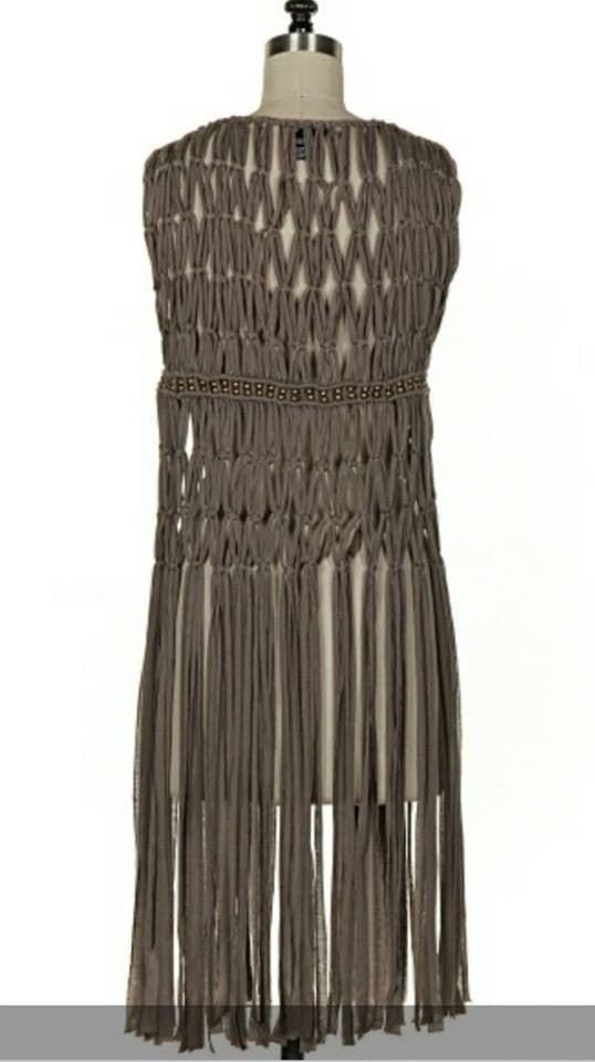 Beaded Jersey Fringe Vest - Boujie Empire™