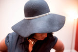 Black Floppy Brim Hat - Boujie Empire™