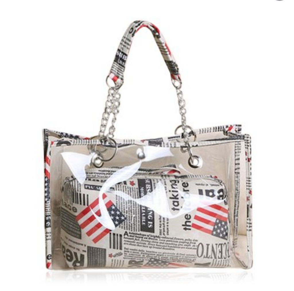 Stylish Women's Transparent Tote - Boujie Empire™