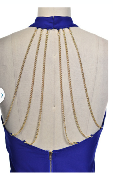 Crop Halter Top With Chain Detail - Boujie Empire™