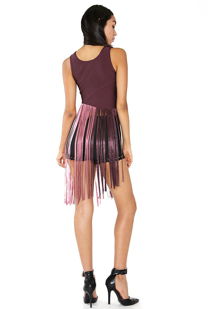 Fringe Bandage Crop Top