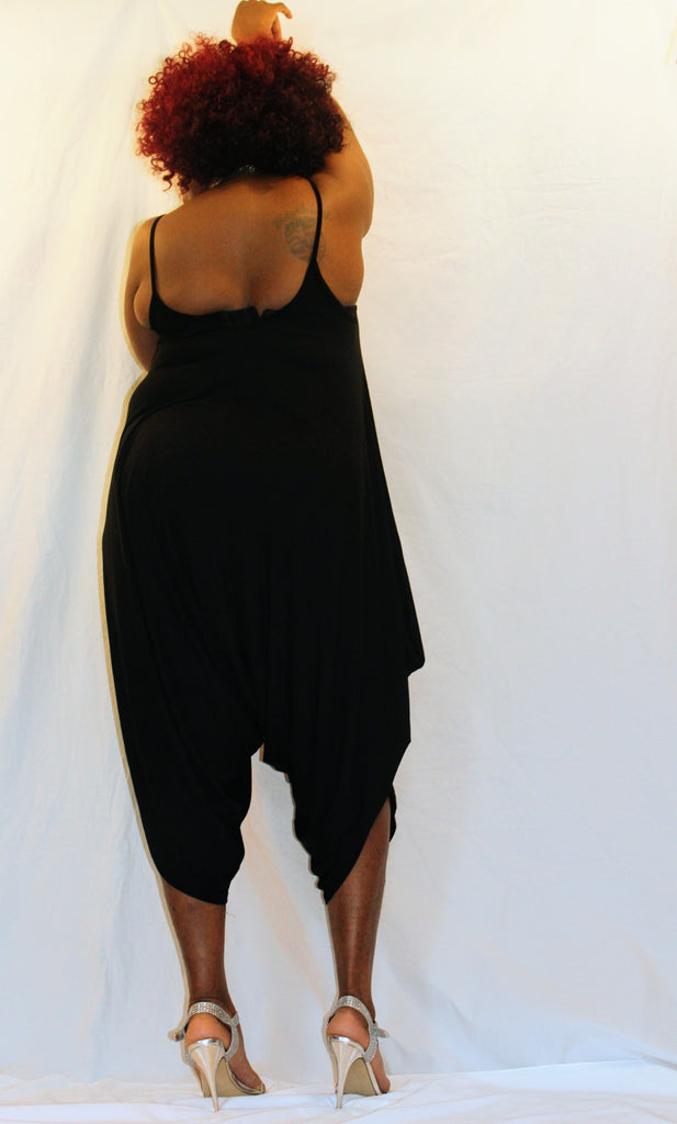 Black  harem jumpsuit plus size