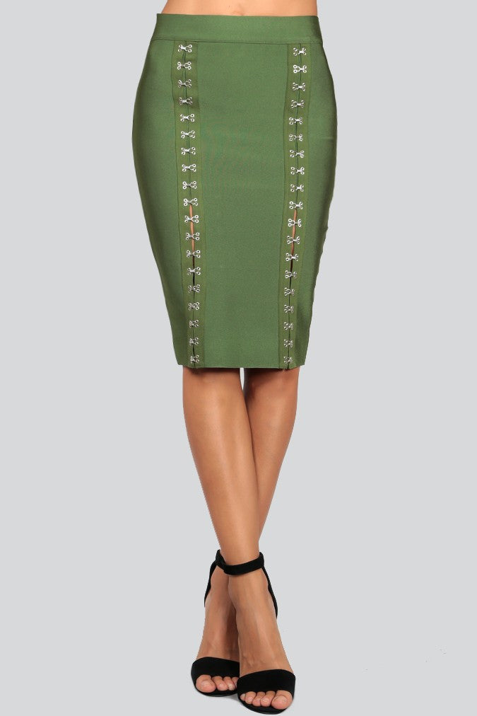 Hook And Eye Bandage Skirt - Boujie Empire™