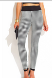 Houndstooth Check Stretch Leggings - Boujie Empire™