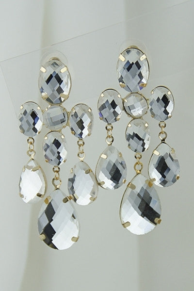 8 Stone Dangle Earring - Boujie Empire™