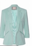Mint Colored Fitted Blazer 3/4 Length Sleeve - Boujie Empire™