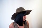 Olive Floppy Brim Hat With  Chain Belt Detail - Boujie Empire™