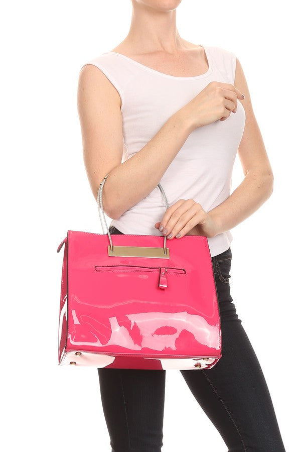 Patent Leather Fashion Handbag - Boujie Empire™