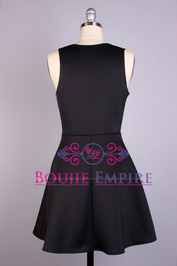 Scuba Style Dress, With Flared (Skater) Skirt - Boujie Empire™
