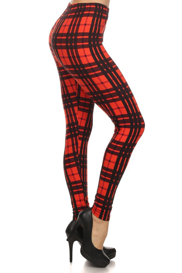 Plaid Leggings - Boujie Empire™