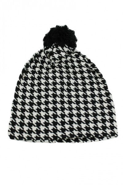 Unisex Hounds Tooth Check Beanie - Boujie Empire™