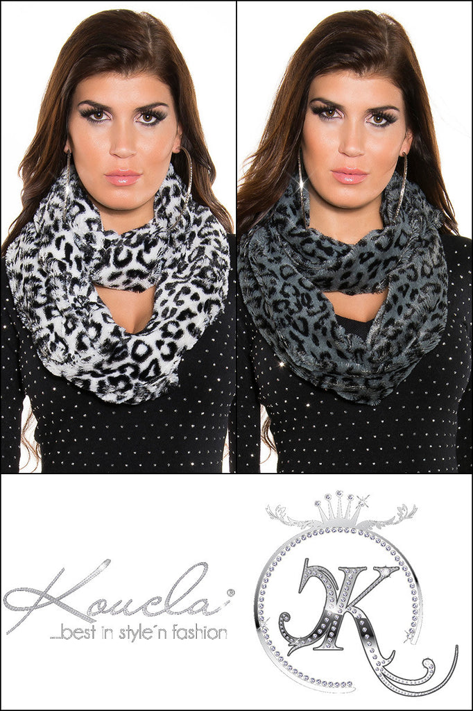 Infinity Scarf Animal Print, Soft Plush Material - Boujie Empire™