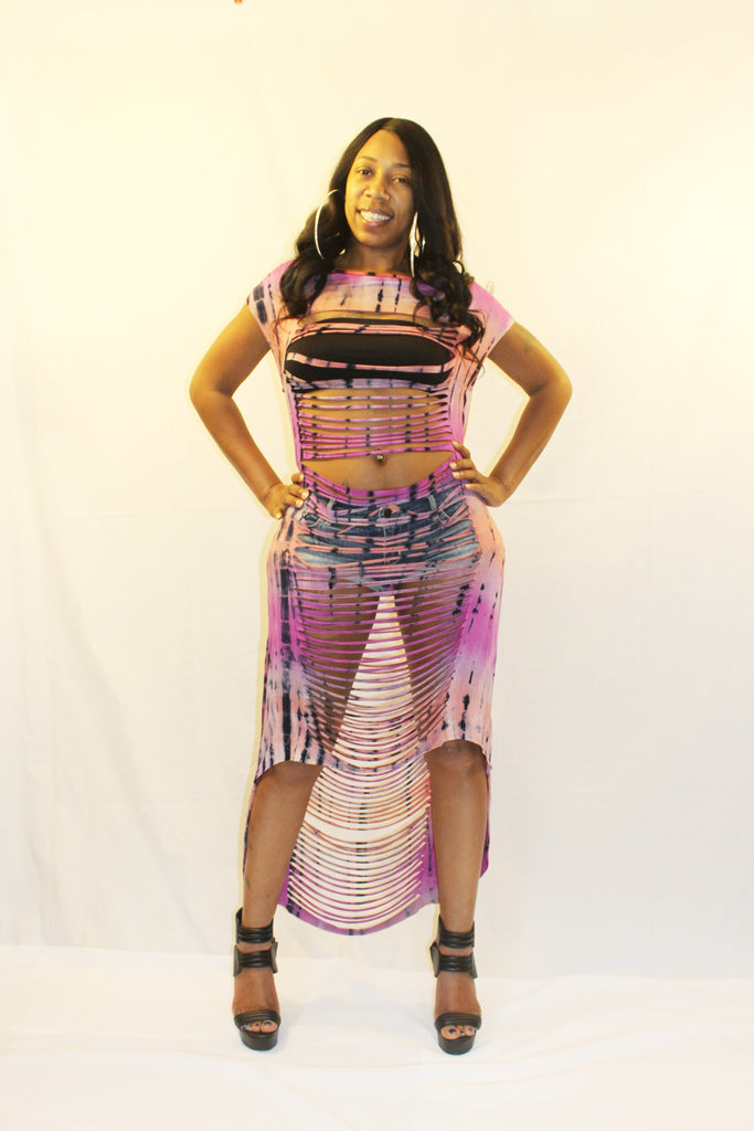 Hi Low Razor Sliced  Jersey Dress - Boujie Empire™