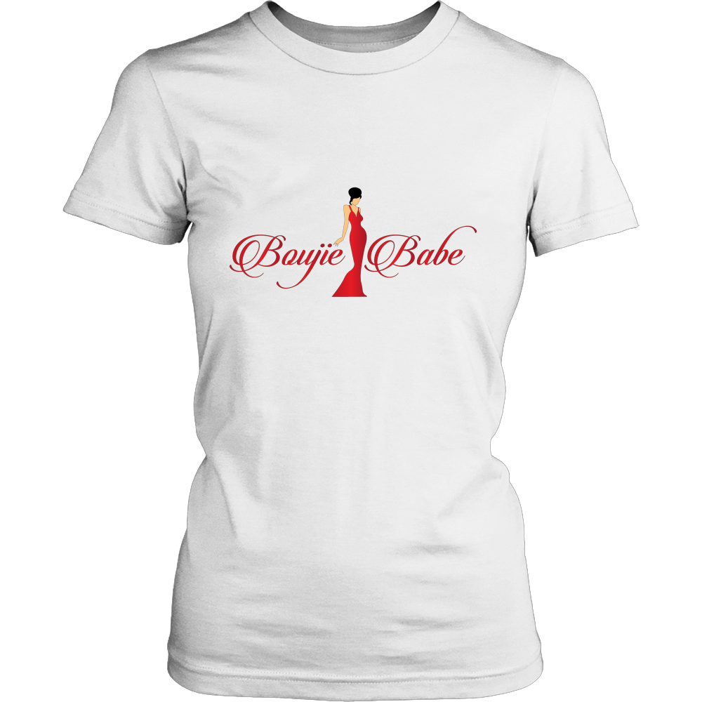 Boujie Babe White /Red Art Graphic T Shirt - Boujie Empire™