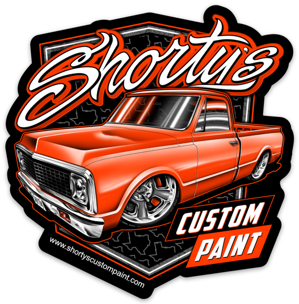 Shorty's  C10 Truck Sticker