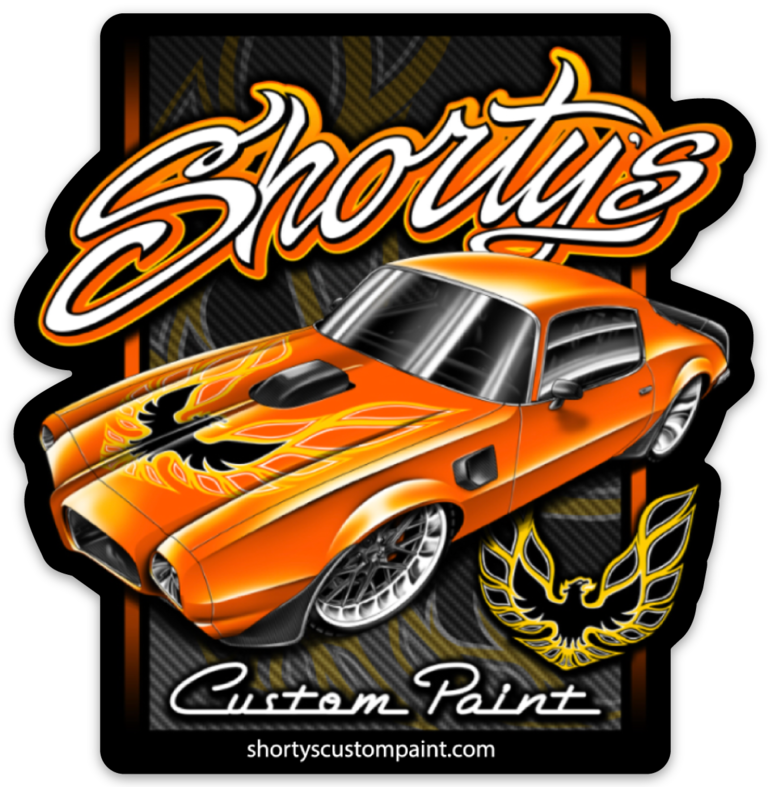 Shorty's Firebird Sticker