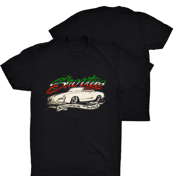 Men's Karmann Ghia T-Shirt with Red, White, & Green Letters