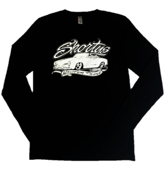Black Long sleeve Shirt with White Logo by Shorty's Custom Paint