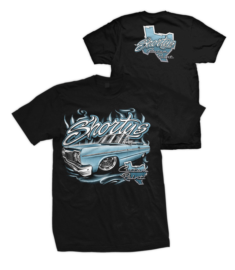 Men's '64 Impala T-Shirt (blue car)