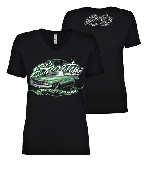 Ladies' '59 Impala V-Neck T-Shirt (green)