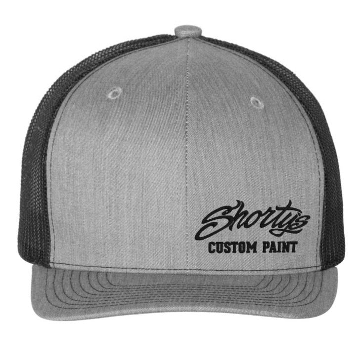 Embroidered Trucker Hat | Heather Gray and Black