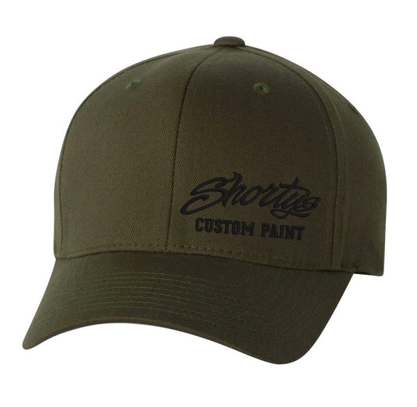 Embroidered Flexfit Hat | Olive Green and Black