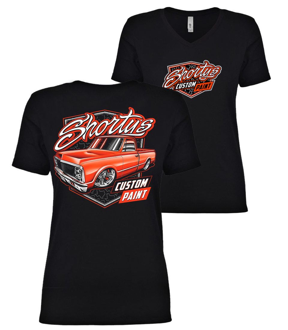 Ladies' C10 Truck V-Neck T-Shirt