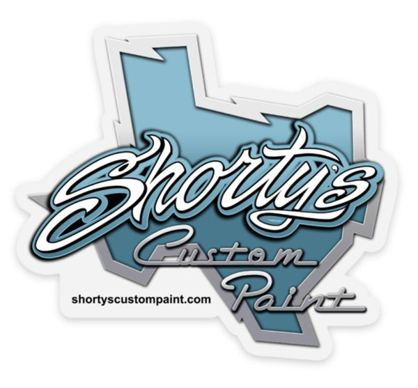 Shorty's Blue Texas Sticker