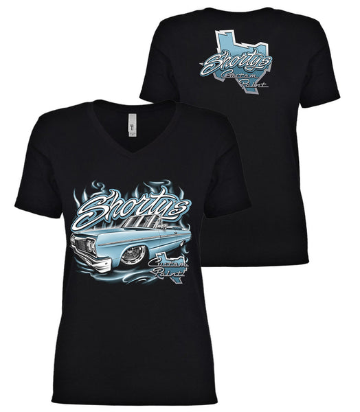 Ladies' '64 Impala V-Neck T-Shirt (blue)